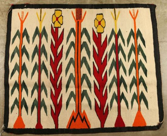 Woven Rug with Maize Design