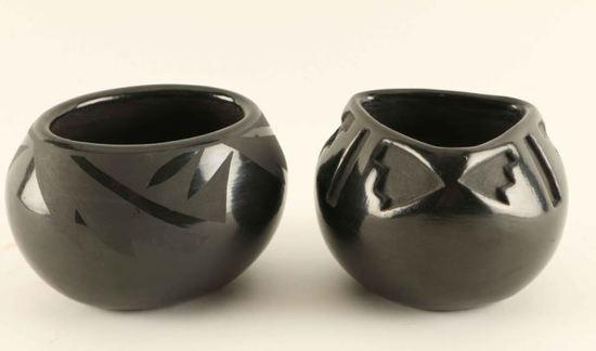 Two Blackware Santa Clara Pots