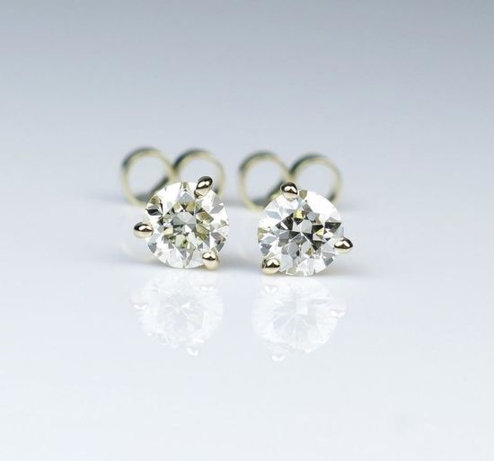 Dazzling Round Cut Diamond Earrings