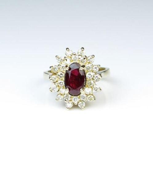 Stunning Fine Ruby & Diamond Ring