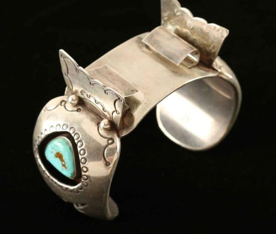 Navajo Turquoise & Silver Watch Cuff