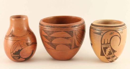 Lot of Vintage Hopi Pottery