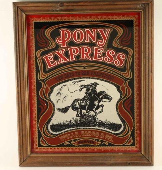 Pony Express Advertiser Mirror