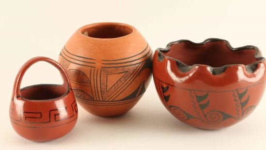 Vintage Hopi Pottery Set of 3