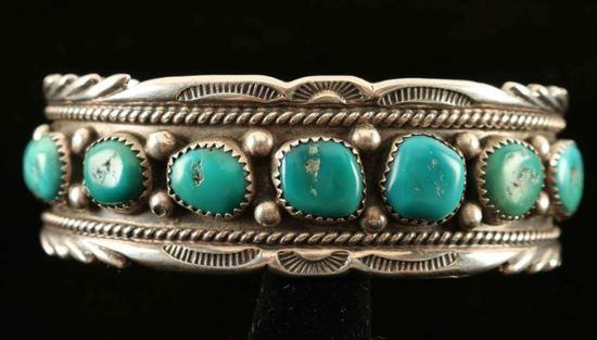 Sterling & Sleeping Beauty Turquoise Bracelet