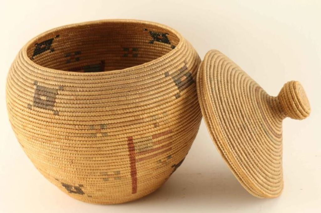 Alaskan Indian Basket with Lid