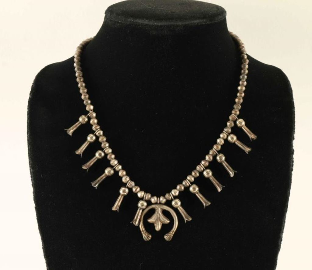 Child's Sterling Squash Blossom Necklace