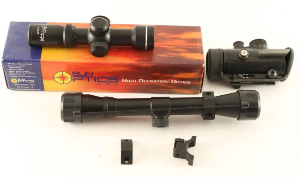 Collection of 3 Scopes & Pistol Case