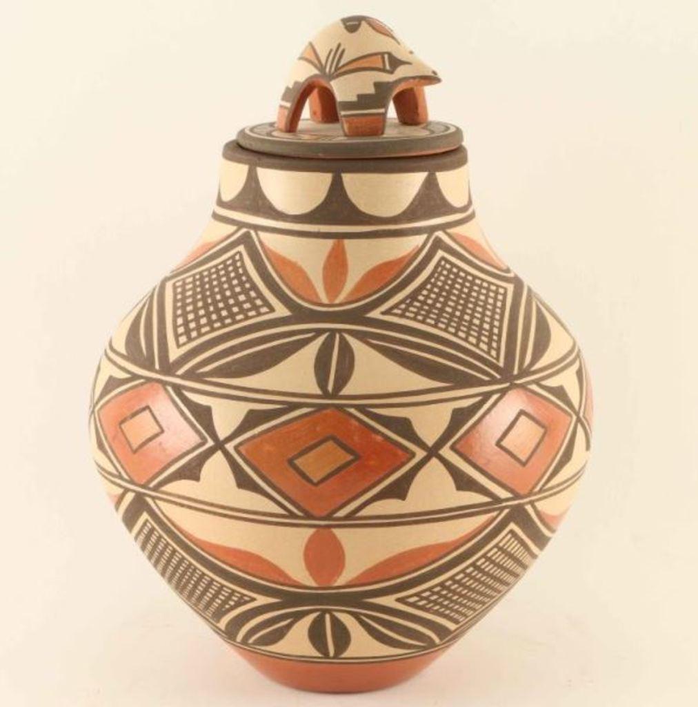 Zia Polychrome Lidded Jar