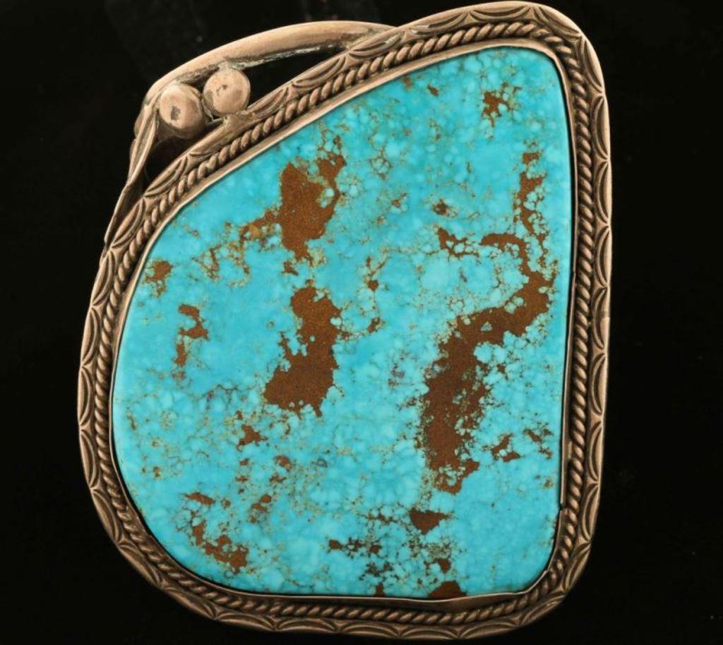 Large Morenci Turquoise Cuff