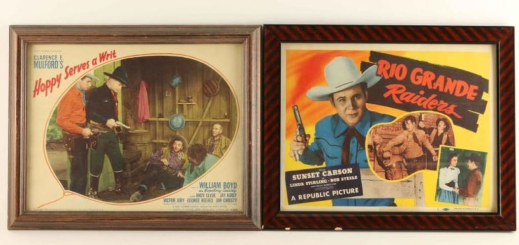 Lot of 5 Western Movie Related Prints