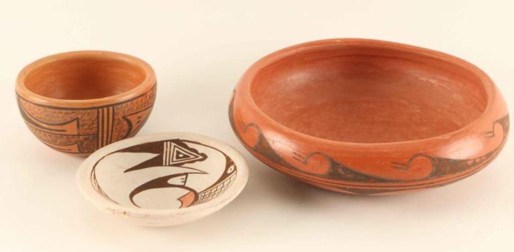 Lot of 3 Pieces Vintage Hopi Pottery