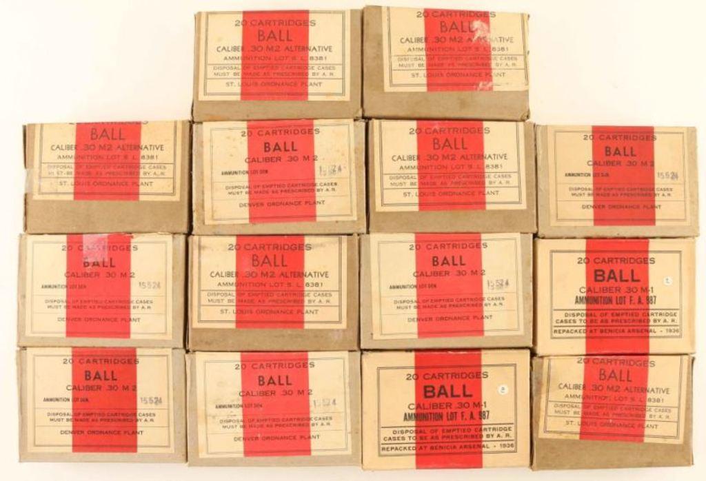 Lot of .30 M2 Ball Ammo