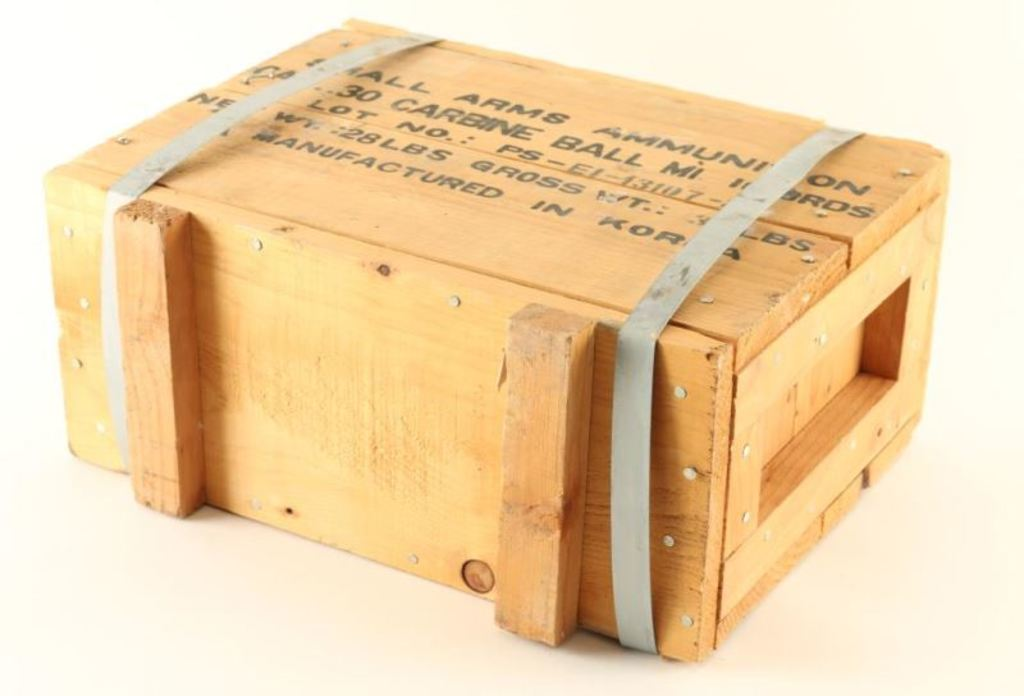 1000 Round Crate of Korean .30 Carbine Ammo