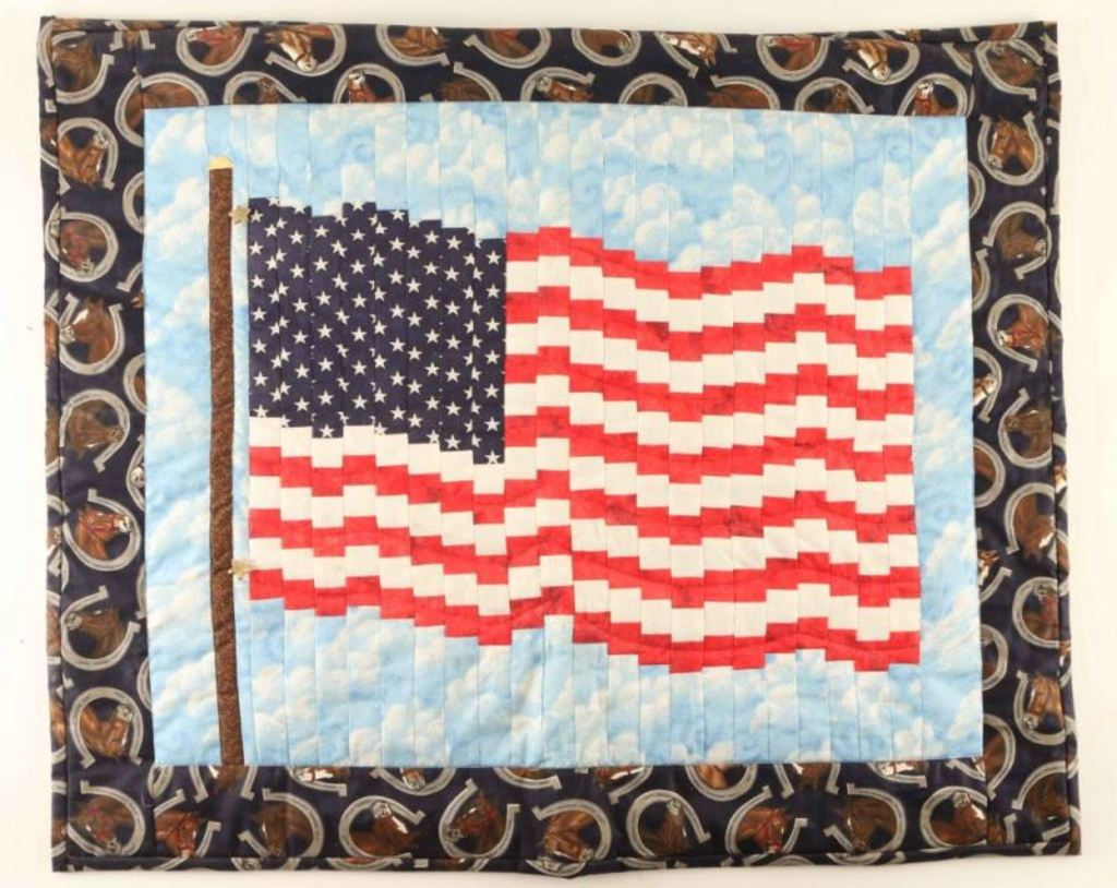 Quilted American Flag Decorator