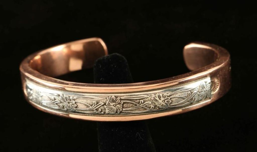 Copper & Sterling Silver Bracelet