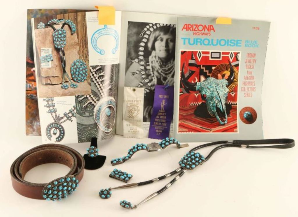Men's Turquoise & Sterling Silver Jewelry Ensemble