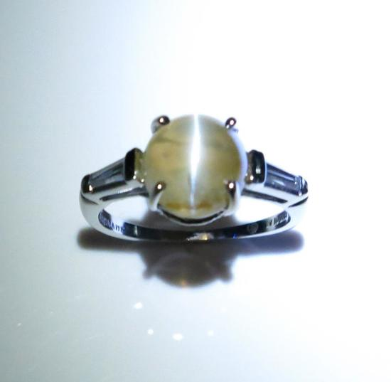 Amazing AGL Certified Chrysoberyl Cat's Eye Ring