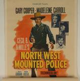 Vintage 'North West Mounted Police' Movie Poster