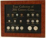 Framed Collection of U.S. 20th Century Coins