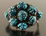 Old Pawn Blue Cluster Nugget Cuff