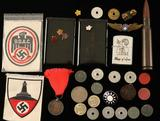 Assortment of Coins, Tokens & More