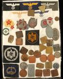 Assortment of Repro German Patches & Coins