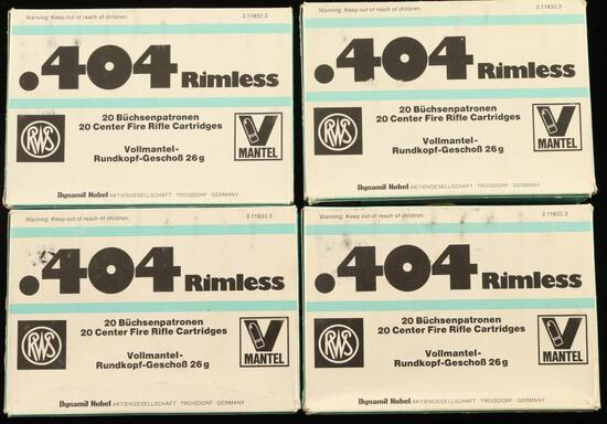 Lot of .404Rimless