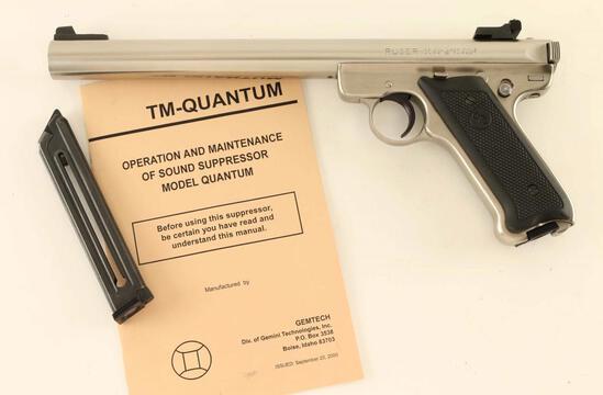 Ruger Mark II Target .22 w/ Gemtech Quantum