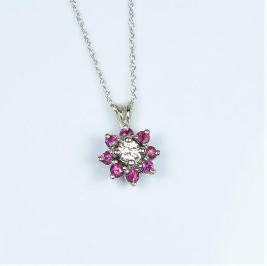 Alluring Diamond and Ruby Pendant