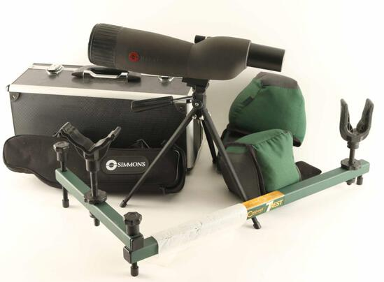 Bench Shooter accessory lot with spotting scope