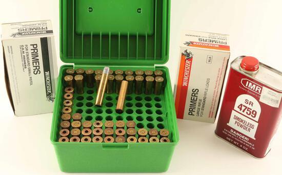 Powder, Primer and 45-70 Ammo Lot