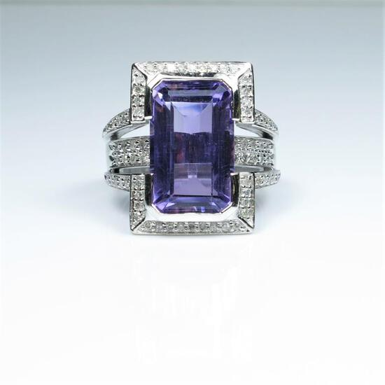 Magnificent Extra Fine Amethyst and Diamond