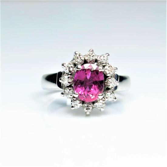 Beautiful Fine Quality Ruby and Diamond Ring