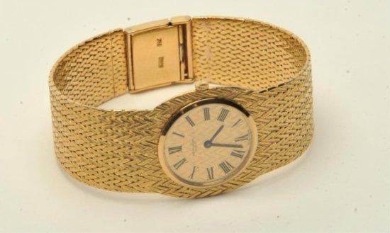 Favre Leuba 18K gold man's wrist watch made in Geneva, Switzerland; incredibly