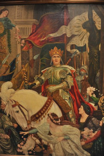 """Original oil painting on canvas entitled """"Return from the Crusade"""""""