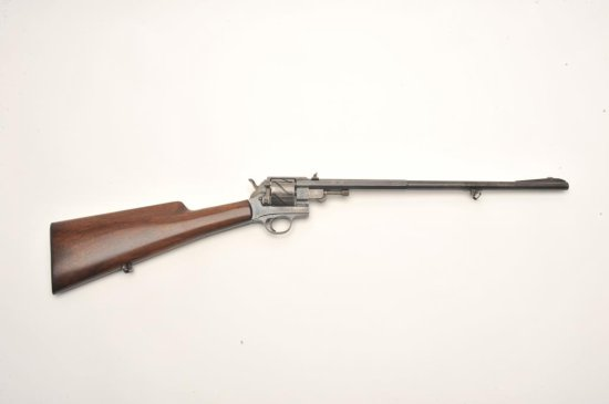 Mauser Zig-Zag automatic revolving carbine, S/N 51 showing Waffenbrik Mauser