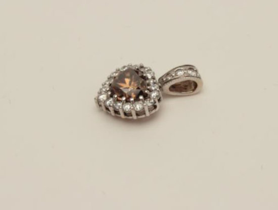 Dazzling 2.13ct. Natural Fancy Orange Brown Heart Shaped Brilliant Cut Diamond