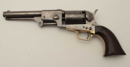 Colt 3rd Model Dragoon scarce cut for shoulder stock variation, S/N