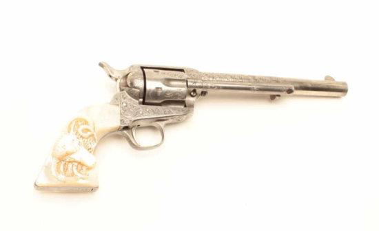 "Colt Single Action Army revolver, .44-40 caliber, 7 ½"" barrel, factory engraved,"