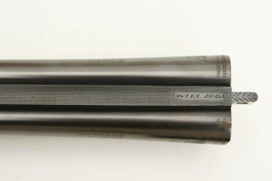 """Merkel deluxe SxS shotgun, 20 gauge, 26.75"""" barrels, ejectors, blued finish to"""