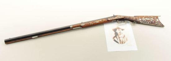 Elaborate plains rifle signed C.F. Matthews, Petersburg III with direct