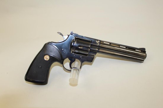 "Colt Python 6"" revolver #93364, .357 Mag, blue finish, later"