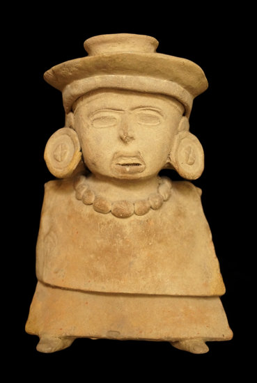 """9 1/2"""" x 6 1/4"""" Vera Cruz Whistle Figure featuring ear spools, head gear and necklace."""