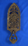 Muster Geschulzt ox tongue iron trivet stand, very ornate,  12