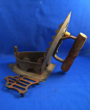 Box iron, Asian, hinged top, early 1900's, Ht 6 1/4