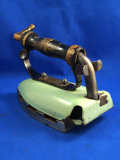 Natural gas iron, English pat. by A. Kenrick & Sons, Ltd, Ht 5 3/4
