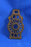 Small odd shaped trivet, 4 1/4