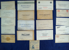 Set of 18 old business cards and one automobile give-away ticket from 1922 *See full description.