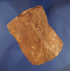 "3 3/8"" saddle style Bannerstone with a highly degraded surface found in northern Alabama."